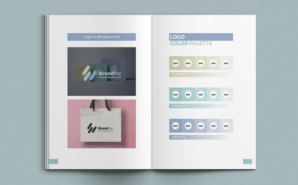 corporate identity manual template download